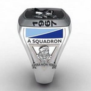 2nd Cavalry A Squadron Oxidized Ring