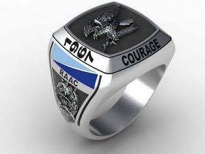 2nd Cavalry Regiment Ring Oxidized