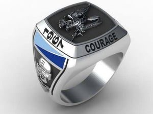2 Cavalary C Squadron Oxidized Ring