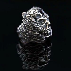 Skull Motorcycle Ring