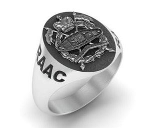 Australian Armoured Regiment Ring Oxidized Silver