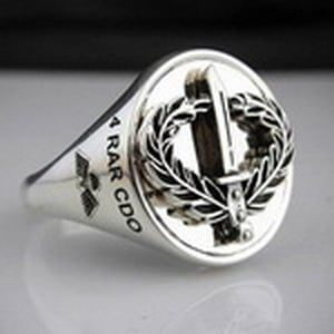 4 RAR CDO Infantry Combat Ring Oxidized