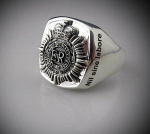 Royal Corps Transport Oxidized Silver Emblem Ring