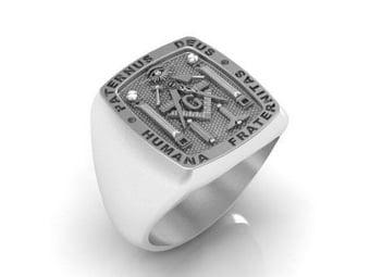 "Masonic Ring ""Paternus Deus""...""Humana Fraternitas"""