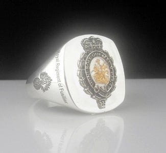 Royal Regiment of Fusiliers Bespoke Sterling Silver Ring