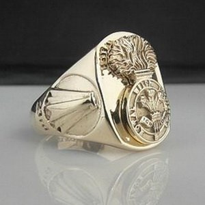 Royal Welch Fusiliers Bespoke Ring 9 Carat Gold
