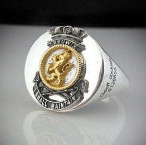 HMAS Leeuwin Crest Ring