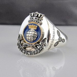 HMAS Duchess Ships Crest Ring