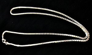 Silver Chain 2mm Box Belchar 22 inches Long