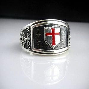 Knights Templar Cigar Band Masonic Ring