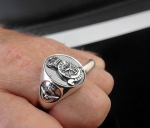 Veterans Air Force Ring Oxidized