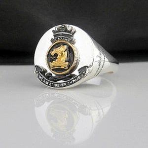 HMAS Brisbane Bespoke Crest Ring