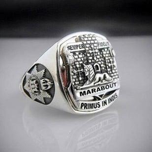 Devonshire & Dorset Regiment Bespoke Ring Oxidized Silver