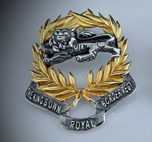 Kings Own Border Regiment Pendant/ Broach Silver Lion