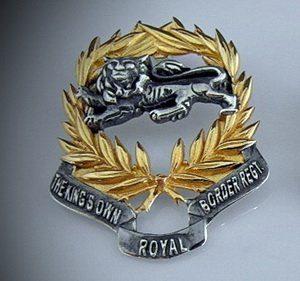 Kings Own Border Regiment Pendant/ Broach Silver Lion