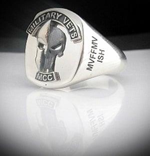 Military Vets MCC Bespoke Sterling Silver Ring