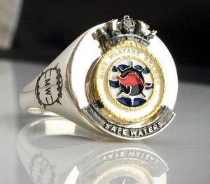 Mine Warfare Branch Bespoke Crest Ring