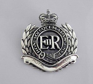 Royal Engineers Silver Oxidized Pendant/Broach