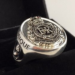 Royal Engineers Oxidized Emblem Ring