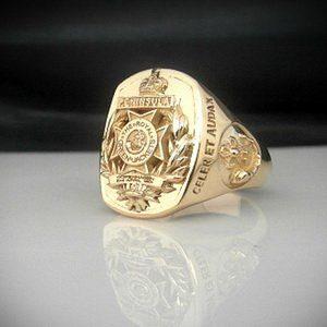 Royal Green Jackets Bespoke 14 ct Gold Ring