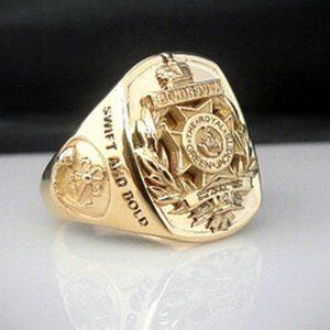 Royal Green Jackets Bespoke 18ct Gold Ring