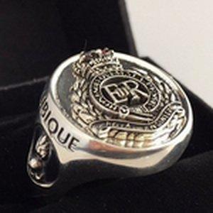 Royal Australian RAE Sapper Silver Oxidized Ring