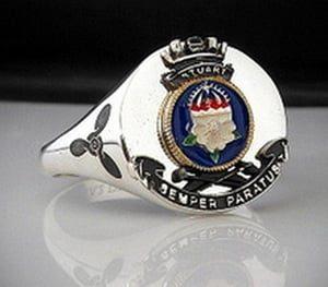 HMAS Stuart Bespoke Ships Crest Ring