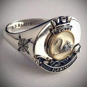 HMAS Swan Round Bespoke Crest Ring