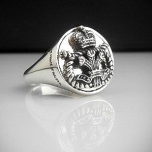 Staffordshire Regiment Oxidized Silver Bespoke Ring