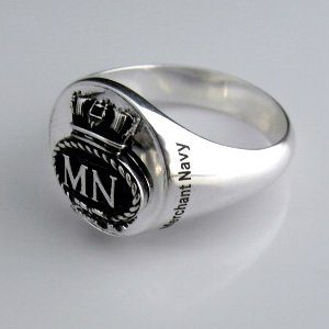 Merchant Navy Bespoke Sterling Silver Signet  Ring