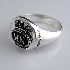 Merchant Navy Bespoke Sterling Silver Signet  Ring