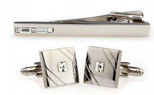 Cuff Links Tie Pin Sets