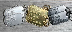 Army Dog Tags Pendants